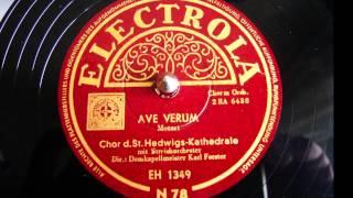 Ave verum - Chor der St.Hedwig-Kathedrale Berlin - 78 UpM