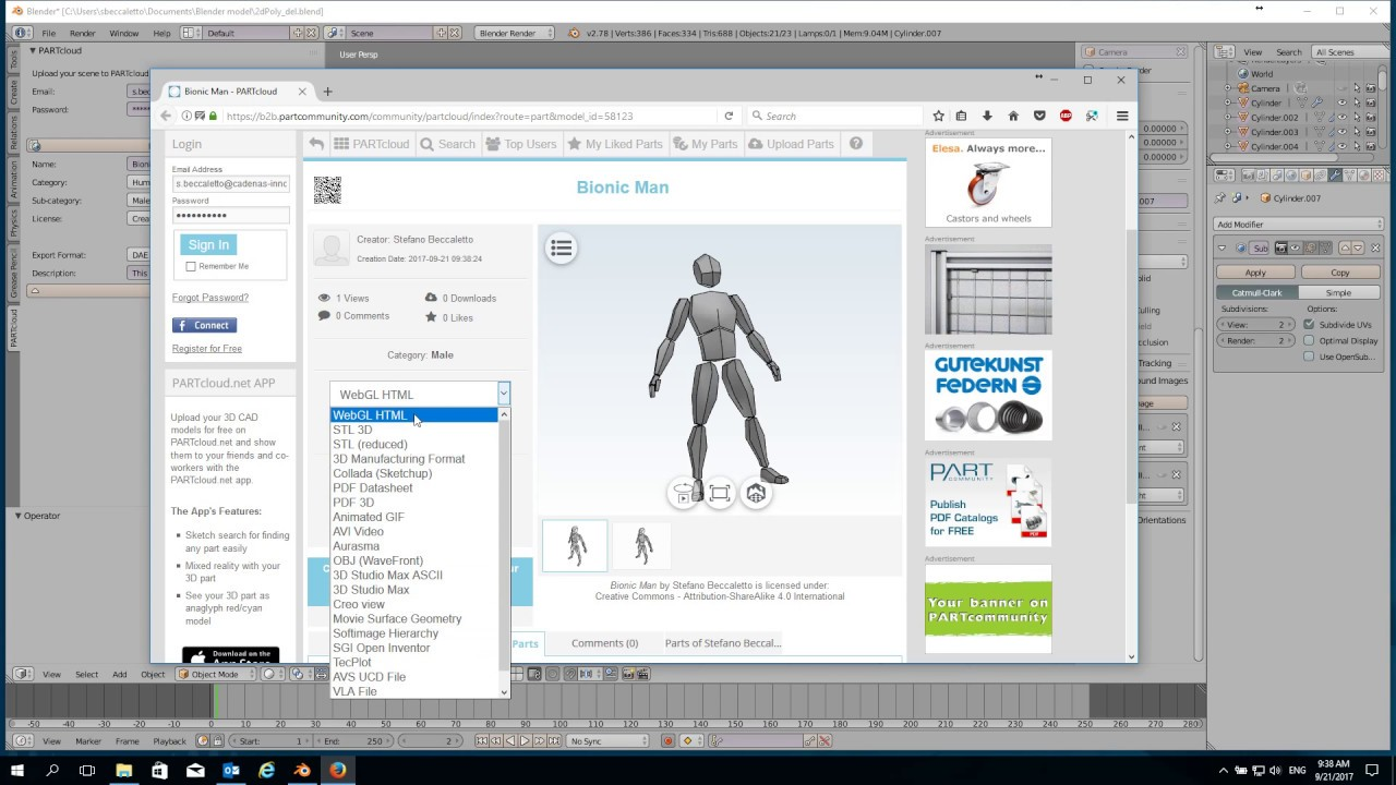 Free plugin for the 3D graphics software Blender facilitates