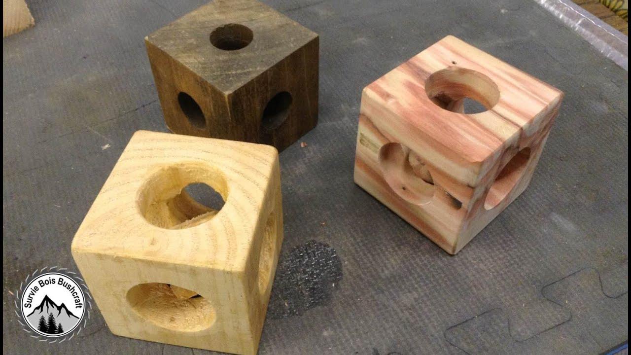 Projet en bois mysterieux comment construire un cube dans - Fabriquer des objets en bois ...