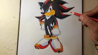 COMO DIBUJAR A SHADOW EL ERIZO / how to draw shadow the hedgehog