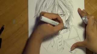 Drawing Zero from Vampire Knight