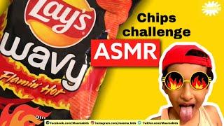 Pakistan's first ASMR video | ASMR | HOT | asmr eating | chip challenge || Maama kids
