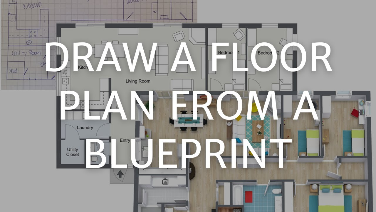 how to draw a floor plan from a blueprint pc amp mac youtube draw your first floor plan pc amp mac roomsketcher help