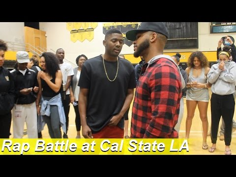 Crazy Freestyle Rap Battle Goes DOWN at Cal State Los Angeles