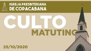 IPCopacabana - Culto matutino - 25/10/2020