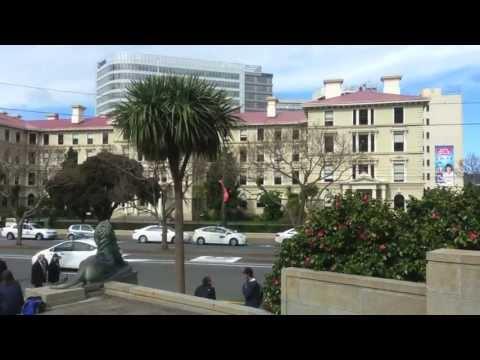 Walk through parts of Wellington, New Zealand