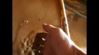 Кладка печи. Делаем раствор из глины(ЗАМАЧИВАЕМ ГЛИНУ. Печь клал сам., 2014-07-25T06:39:04.000Z)