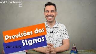 Horóscopo| Previsões dos Signos 26/1 a 01/2 André Mantovanni