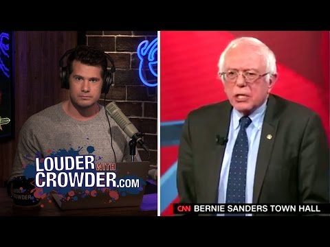 Bernie Sanders Confronted On Blatant Anti-Business Policies | Louder With Crowder