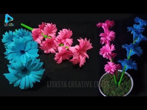 Cara membuat bunga dari kertas origami yang indah    Ide kerajinan tangan DIY untuk dekorasi kamar