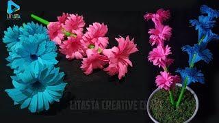 Cara membuat bunga dari kertas origami yang indah || Ide kerajinan tangan DIY untuk dekorasi kamar