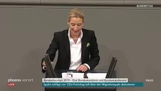 Generaldebatte im Bundestag: Rede von Alice Weidel am 21.11.2018