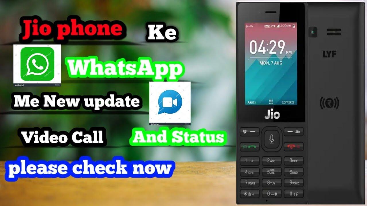 🌹🌹Jio phone new update 🌎🌏🌏WhatsApp mein video🥰🥰 call and