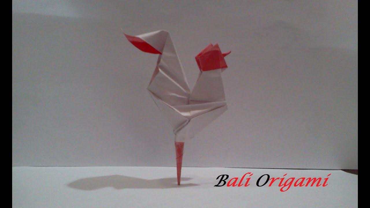 Origami Chicken (Made bali Origami) - YouTube - photo#15