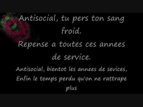Trust - Antisocial (Lyrics)