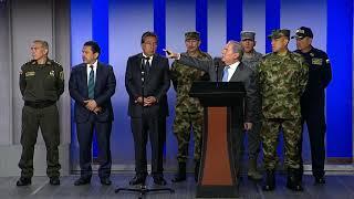Discurso Mindefensa, Fiscal General, Director Policía, Alto Comisionado Para La Paz, Sobre Atentado
