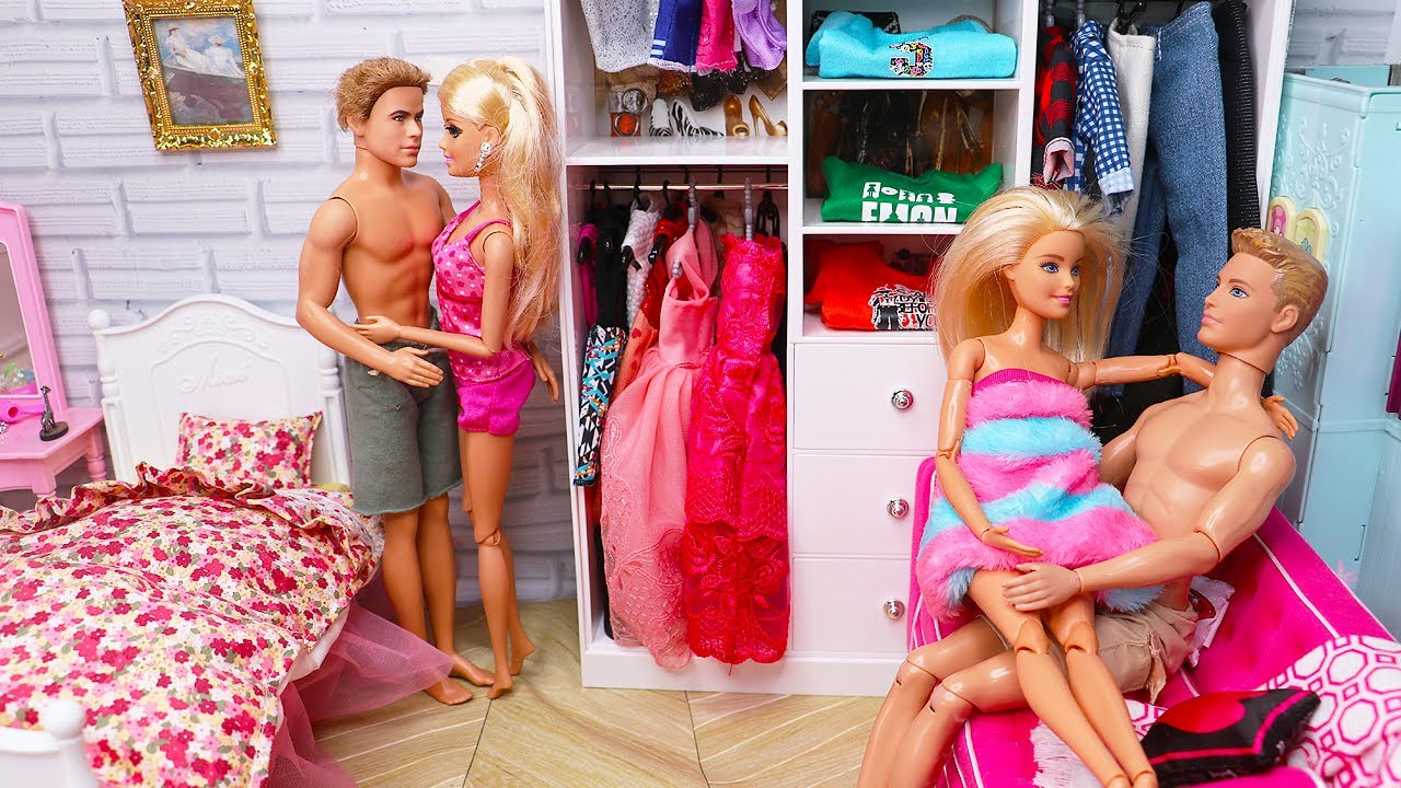 Two Barbie Two Ken Bedroom Morning Routine Bunk Bed House Doll Play 인형놀이 드라마 아침 일상 장난감 놀이 보라미tv Youtube
