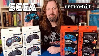 ** NEW ** Retro-Bit Sega Controllers - Unboxing and 1st Impressions!