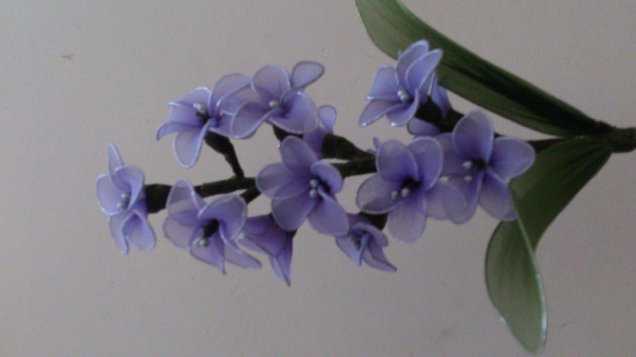 Stocking flower tutorial, stocking flower hyacinth flower , stocking ...
