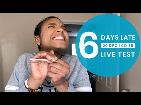 LIVE PREGNANCY TEST | 6 Days Late   | TTC Rainbow Baby #1