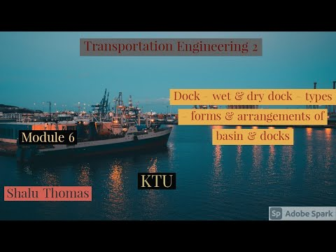 TE2 - MOD 6 - Dock - Types - Form and arrangment of basin and docks