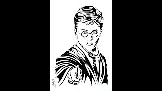 How To Draw Harry Potter - Tribal Tattoo Design Style - Art Maker Akshay