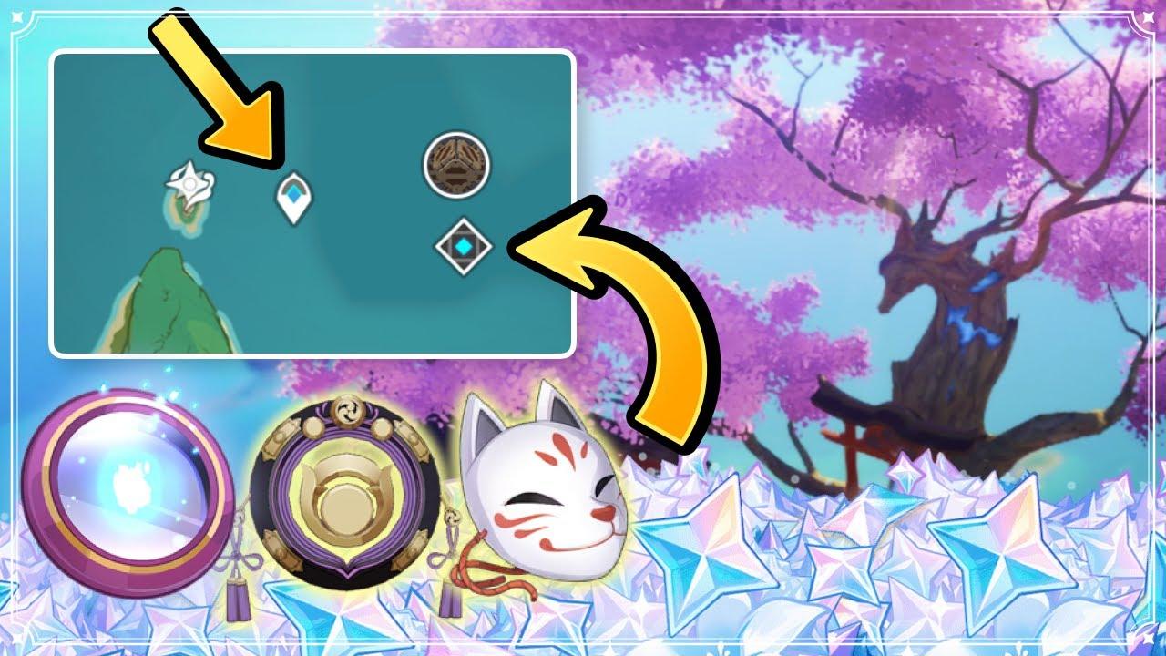 2.0 Sacred Sakura Cleansing Ritual DETAILED Guide (PRIMOGEMS & UNDERWATER Waypoint) Genshin Impact