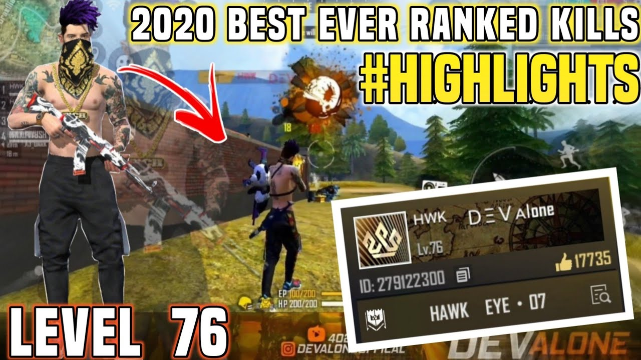 Level 76 Pro Ranked Kills Montages With Onehand 🔥🔥 - Garena Free Fire