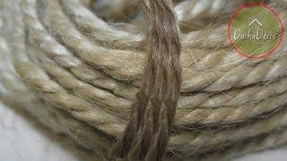 Как отбелить джут своими руками | How to whiten jute do it yourself