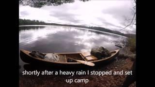 Adirondack solo canoe in deer hunt 2016