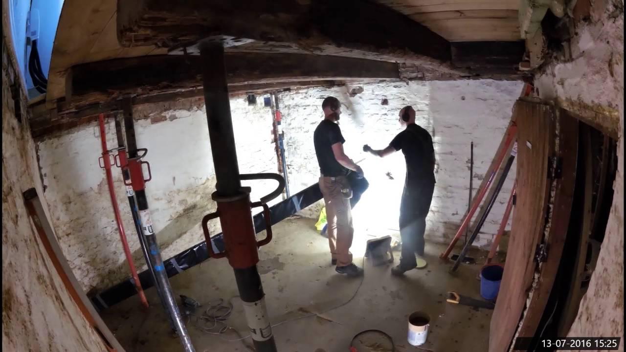 renovering af kældergulv