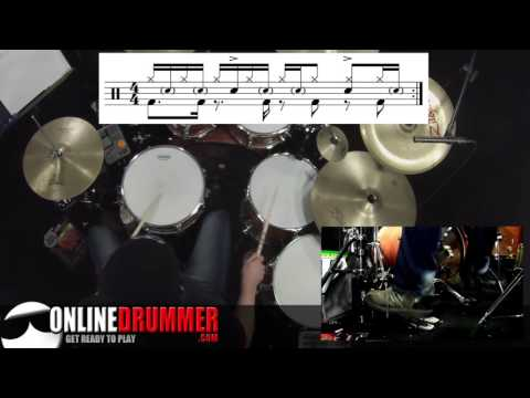 Drum Lesson Cool Tom Snare Beat