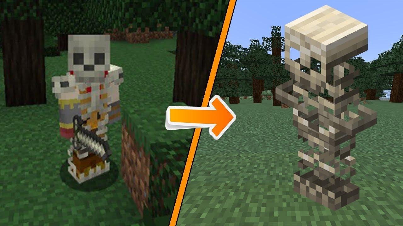 Tutorial Como Hacer Armadura De Hueso En Minecraft / Super Facil y Rapido / Minecraft Mods1.14.4.