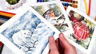 WATERCOLOR CHRISTMAS CARD IDEAS YOU NEED TO TRY!