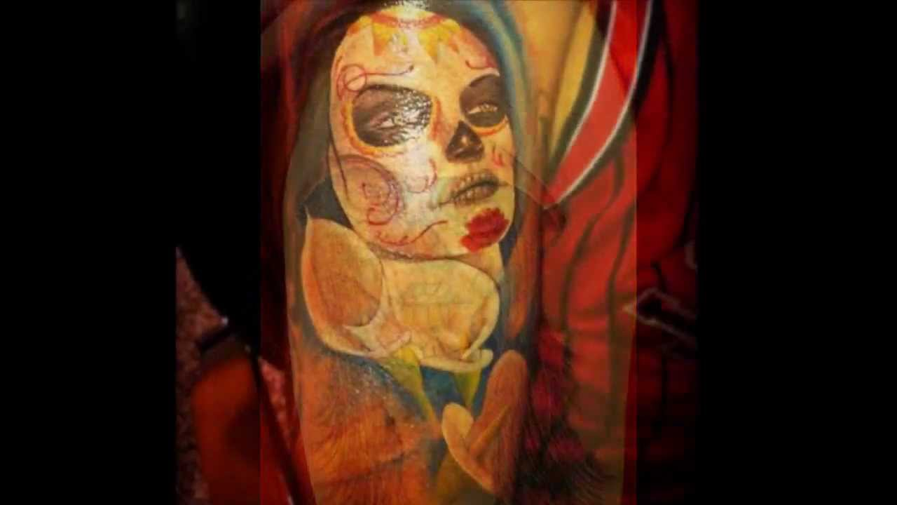 Dia De Los Muertos Tattoos - Day of the Dead Tattoos - YouTube