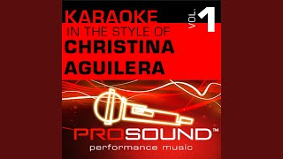 Genie In A Bottle (Karaoke With Background Vocals) (In the style of Christina Aguilera)