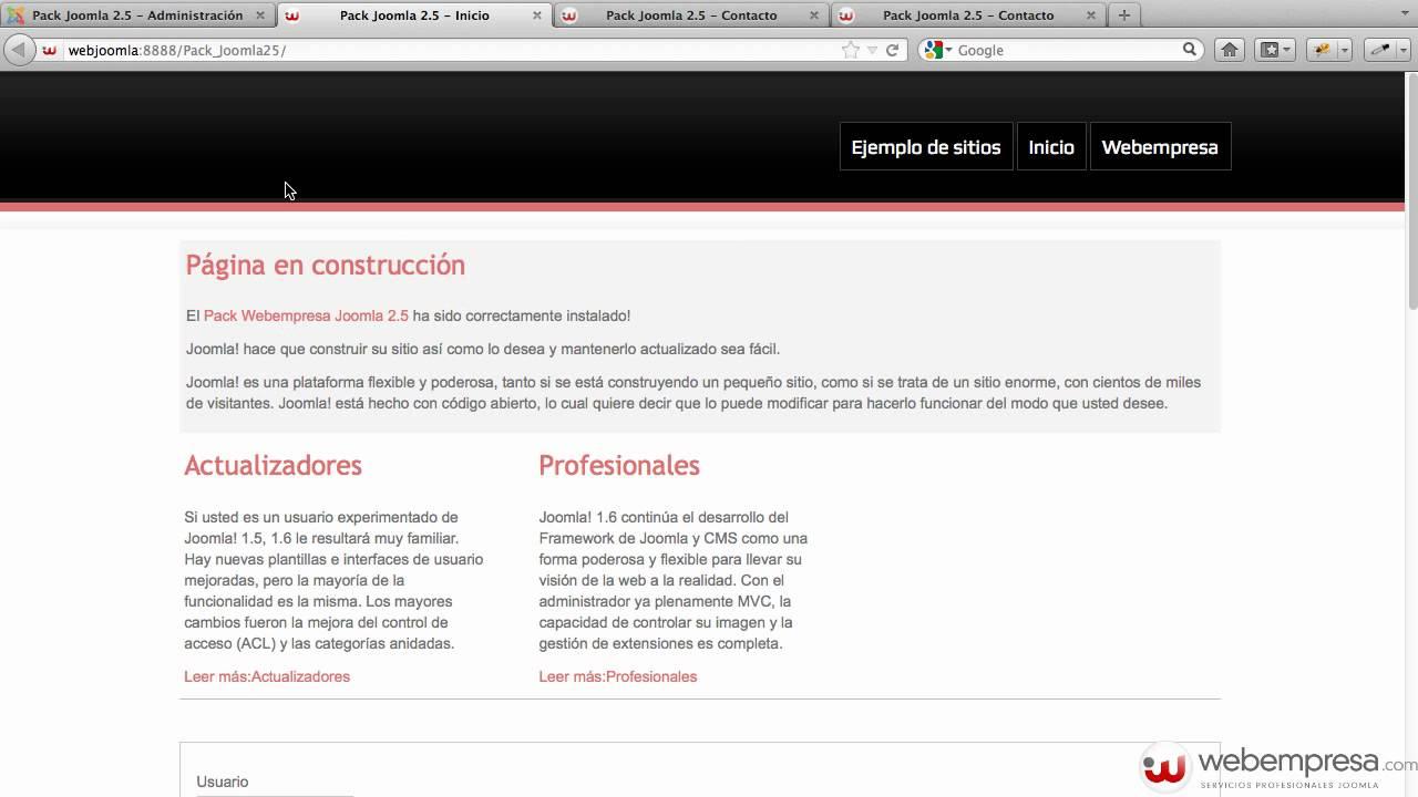 Ayuda Joomla 2.5 - Gestor de Plantillas - Estilos - YouTube