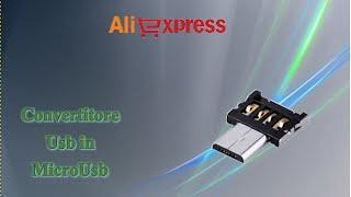Aliexpress haul unboxing - Trasformatore convertitore adattatore Usb in MicroUsb plug