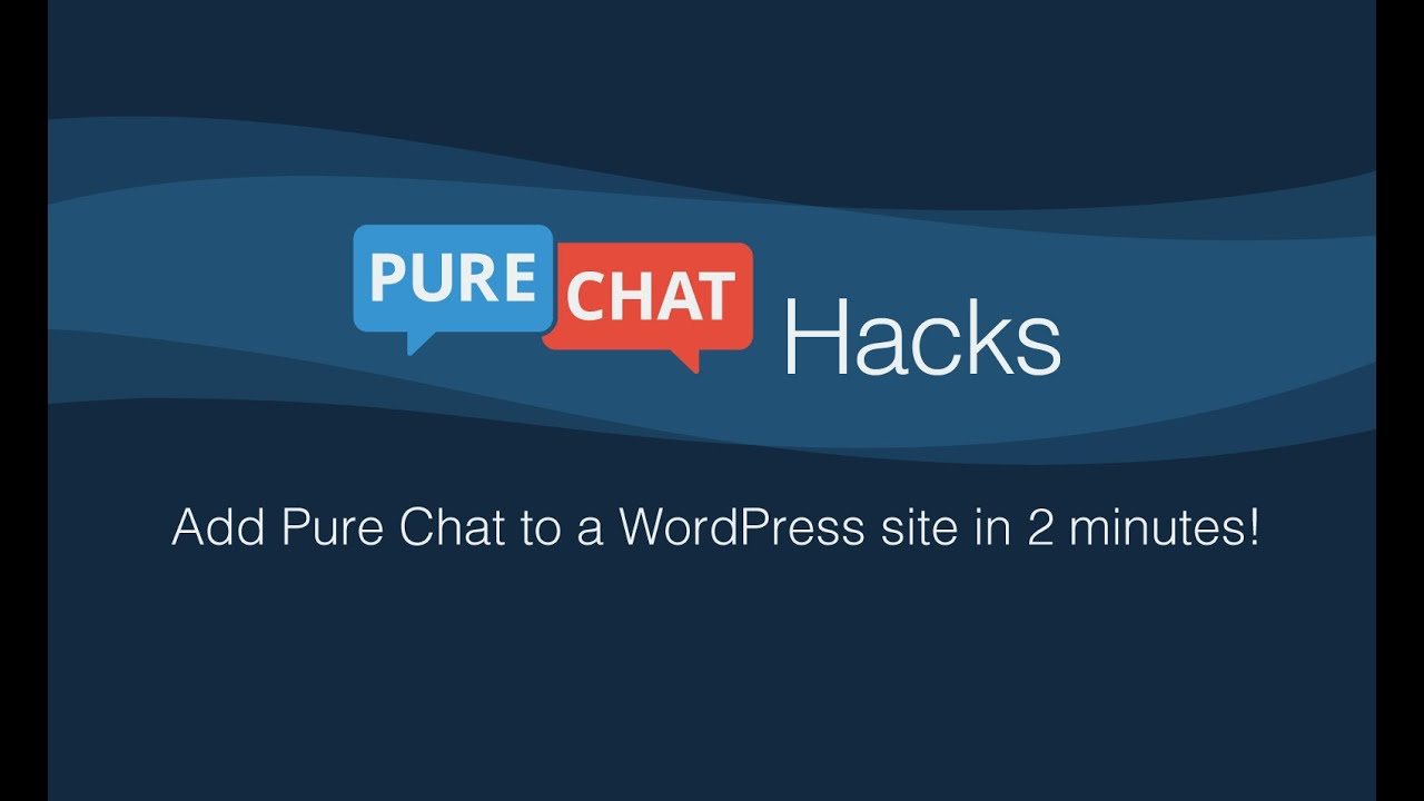 Add live chat to WordPress with Pure Chat