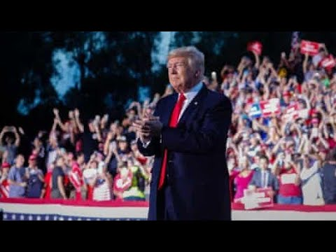 Trump stages Alabama rally as state struggles with Covid surge