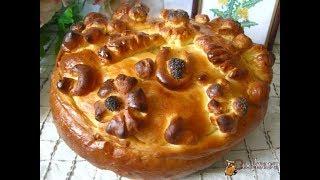 Каравай   вкусный, красивый праздничный хлеб