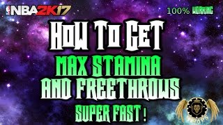 Nba2k17 How To Max Stamina, Free Throws, Hustle and more FAST AF! Tutorial