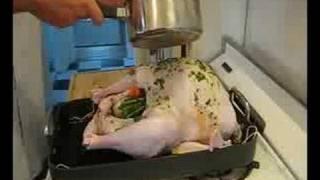 Rubbing Down The Turkey