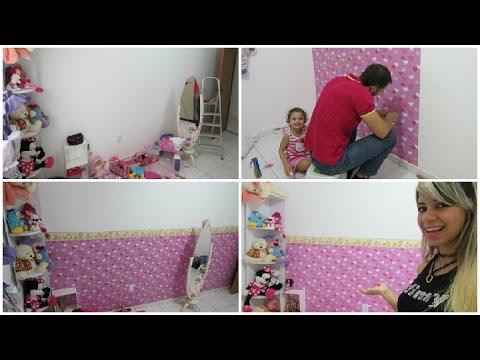 Aplicando Papel De Parede Infantil Quarto Da Luna Youtube