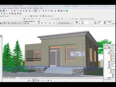 Archicad Video tutorial for beginners, how to do simple concrete fascia
