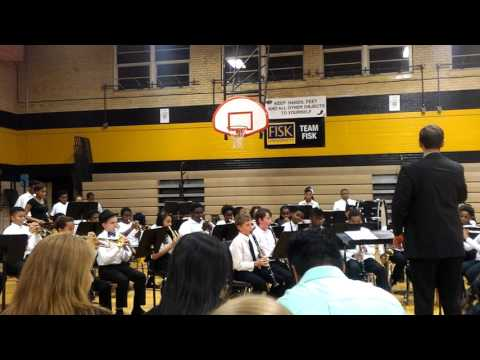 Shmuel's band concert Brittany Woods Middle School 2016 #8