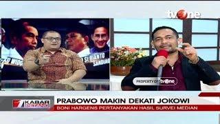 Debat Rico Marbun vs Boni Hargens Soal Elektabilitas Prabowo Dekati Jokowi