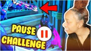 FORTNITE PAUSE CHALLENGE!!! *i cheated* | Fortnite Battle Royale