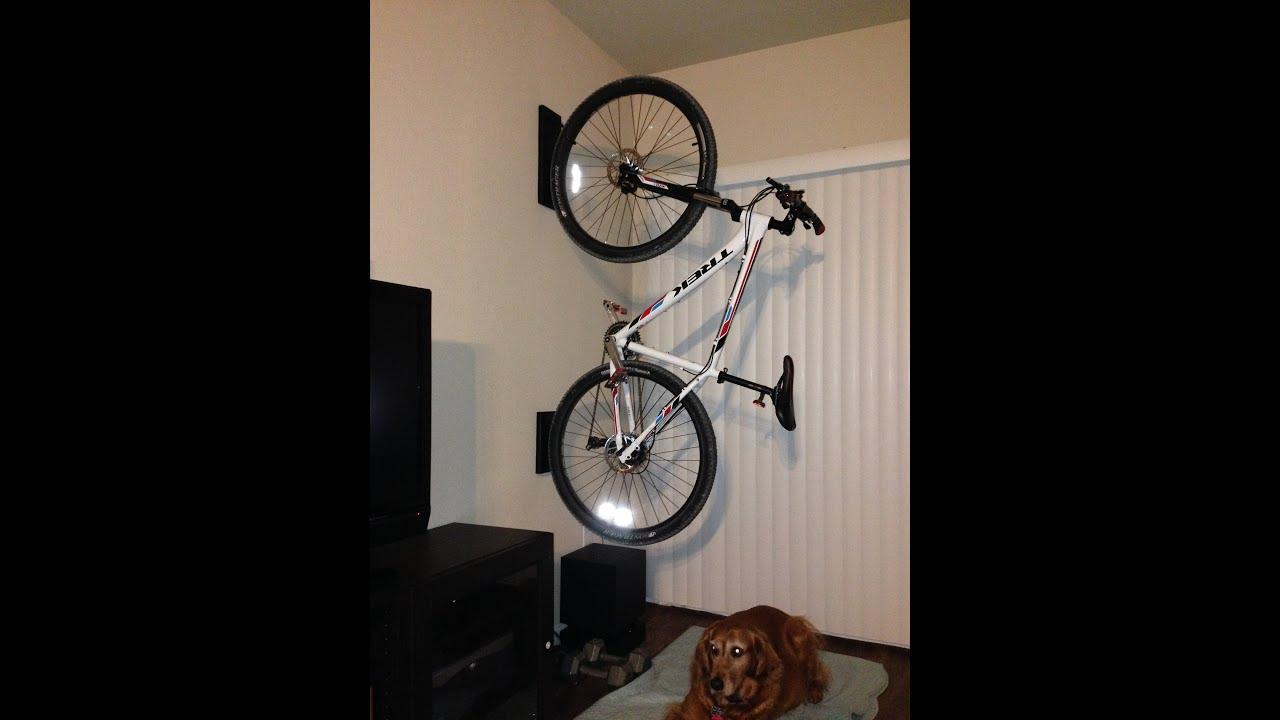 home made bike rack youtube. Black Bedroom Furniture Sets. Home Design Ideas