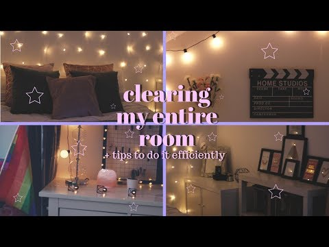 clearing my entire room + tips on how to do it efficiently
